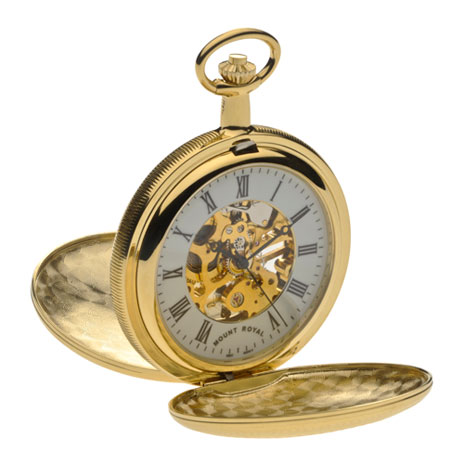 Double opening pocket watch