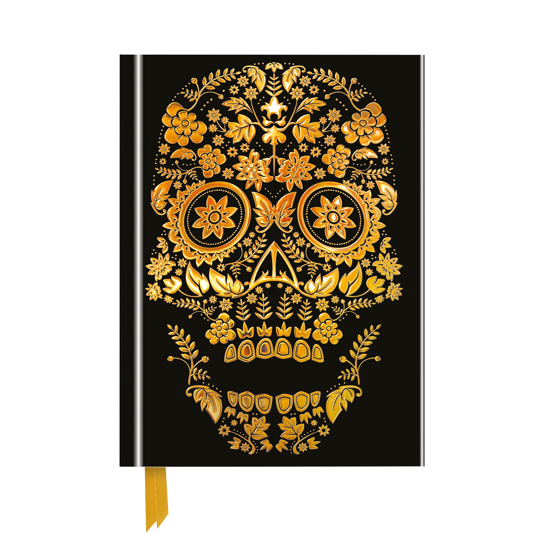 Gold skull notebook