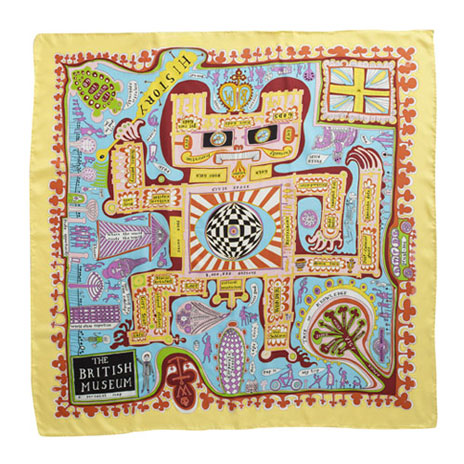 Grayson Perry Scarf: British Museum Map