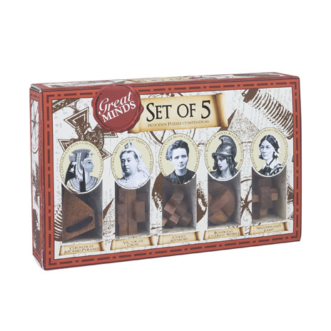 Women's Great Minds Puzzles - Set of 5