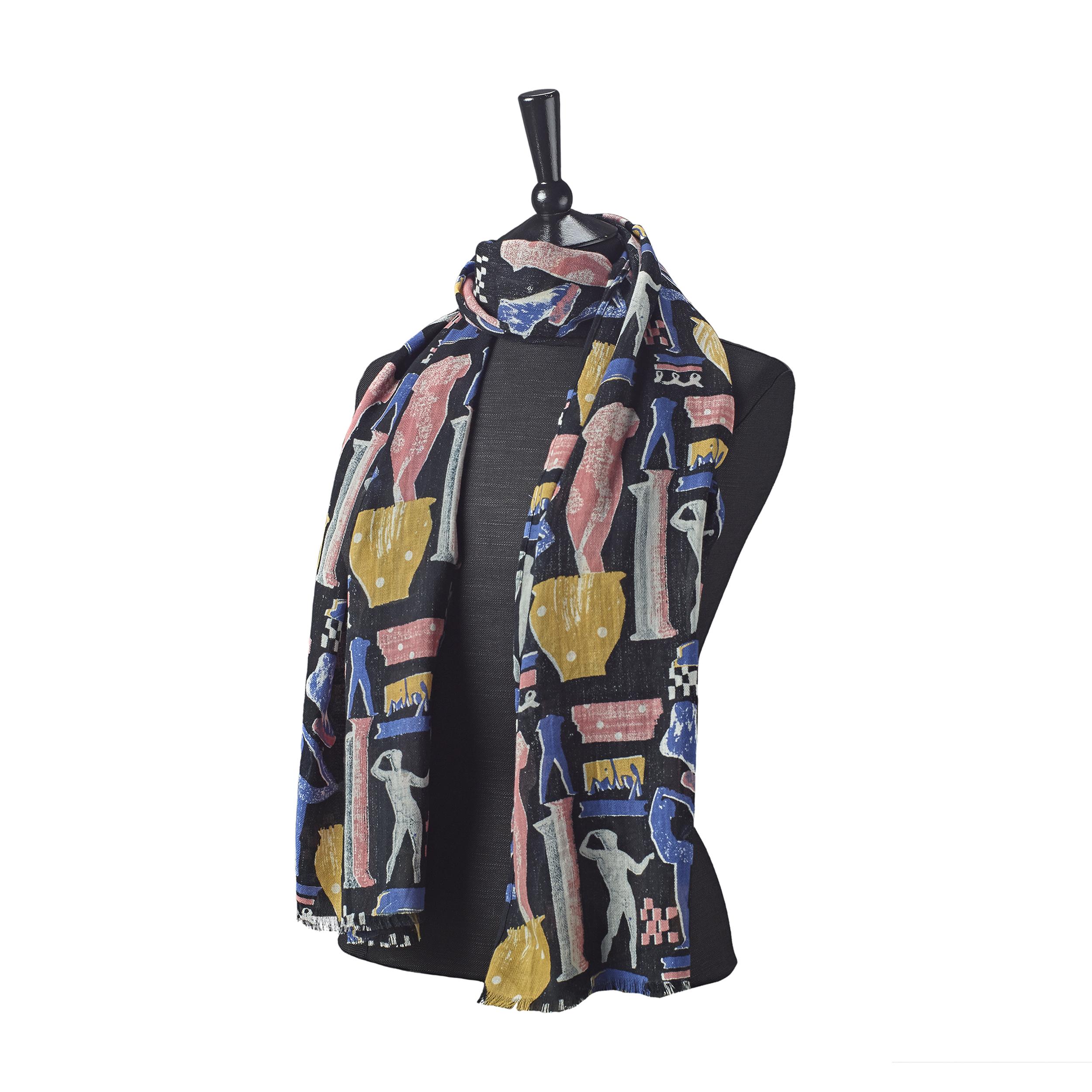 Greek sculpture scarf