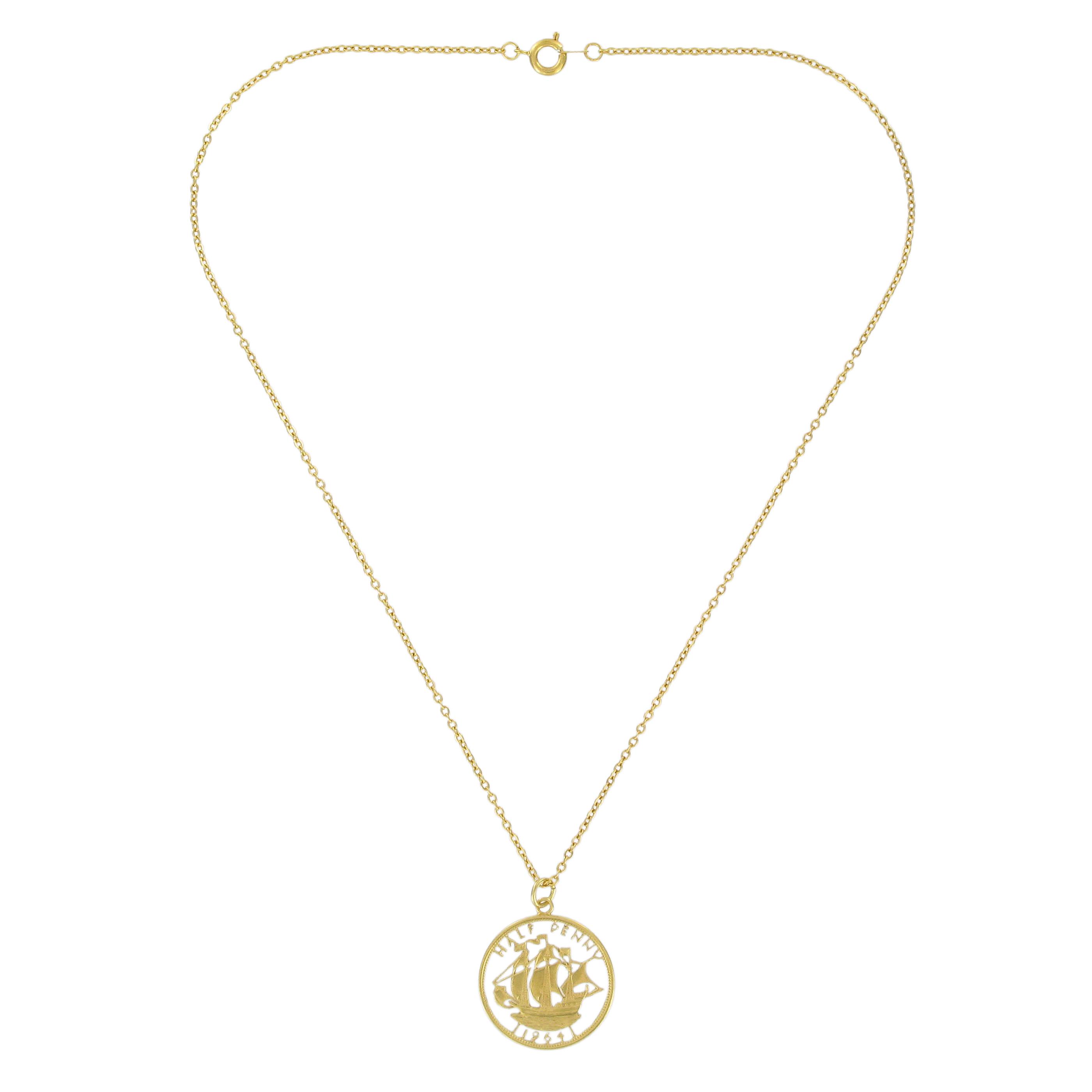 Half penny necklace