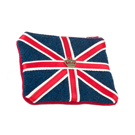 Union Flag tweed purse