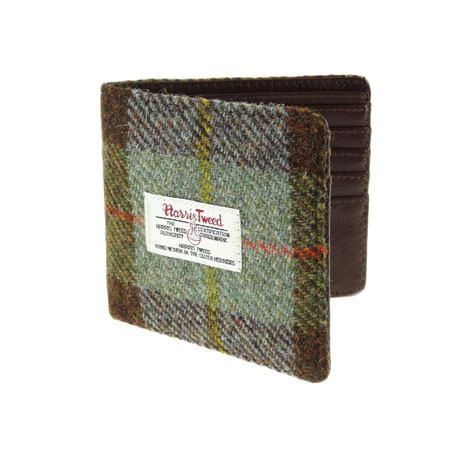 Harris Tweed wallet (green)