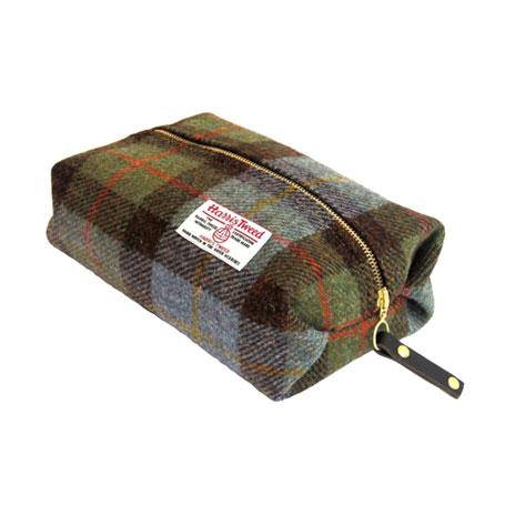 Harris Tweed wash bag (Hunting Macleod)