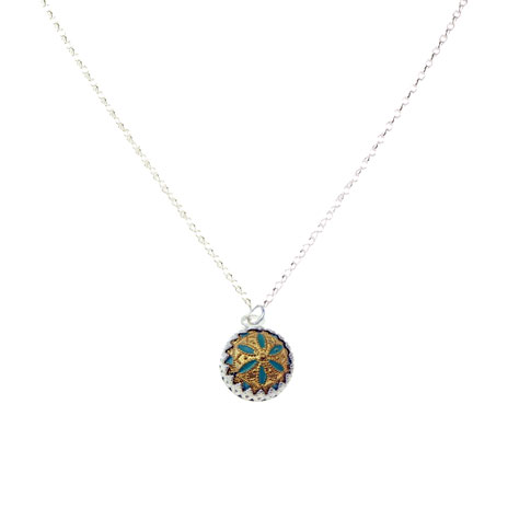 Geometric Button necklace