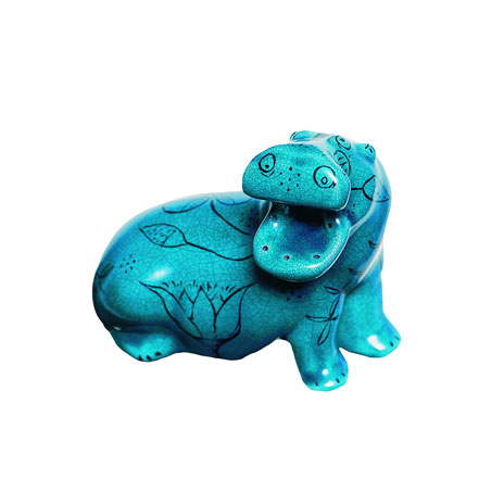 Egyptian turquoise figurine (Hippo)