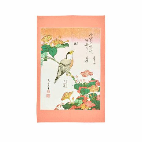 Hokusai, Birds and Flowers tea towel, set of 2