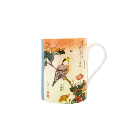 Hokusai, Birds and Flowers mug