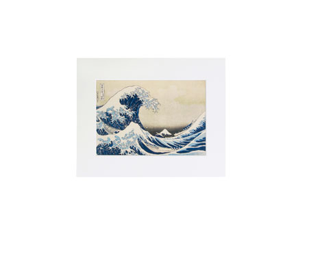 The Great Wave mounted print (white)