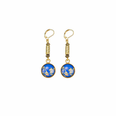 Hokusai bird drop earrings