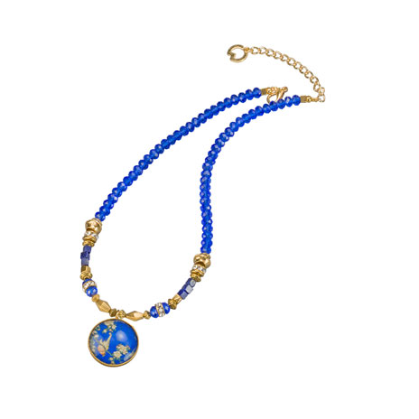 Hokusai bird necklace