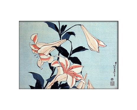 Hokusai,Trumpet Lilies (mounted print)