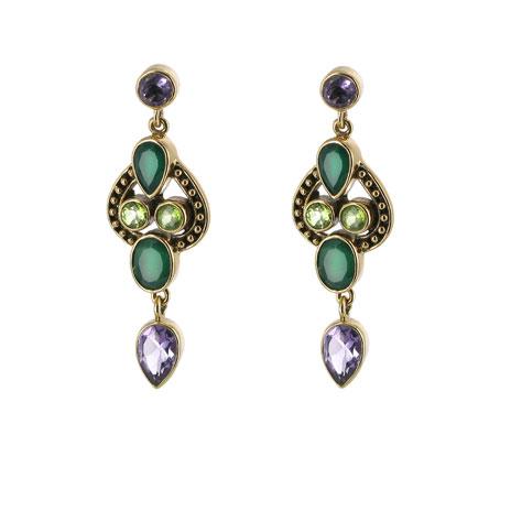 Indian green earrings (UK exclusive)