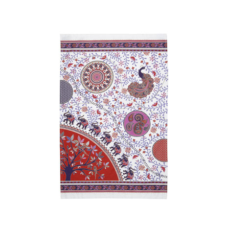 Indian prints tea towel