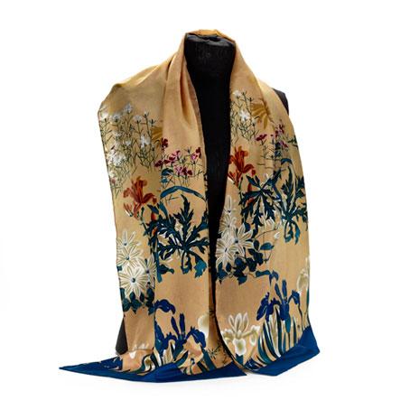 Japanese Iris scarf