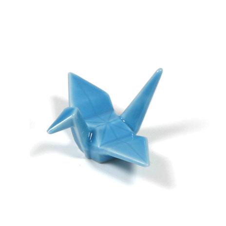 Crane chopstick stand (blue)