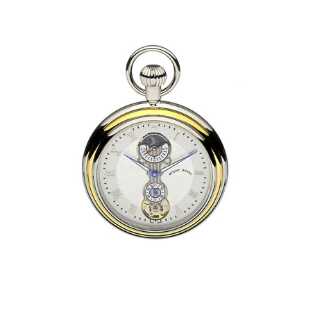 Jean Pierre chrome pocket watch