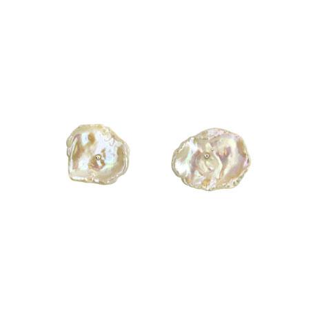 Keshi pearl stud earrings