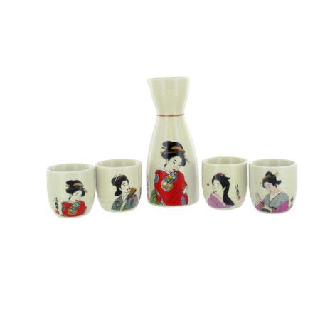 Kimono sake cup set