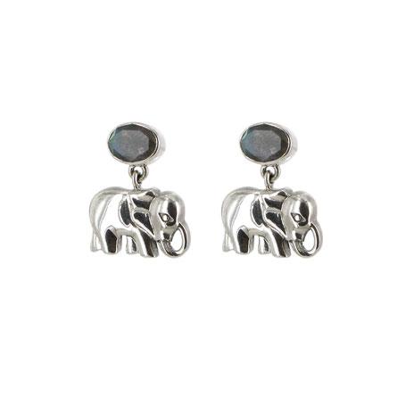 Labradorite elephant earrings