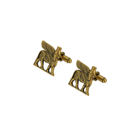 Lamassu winged bull cufflinks