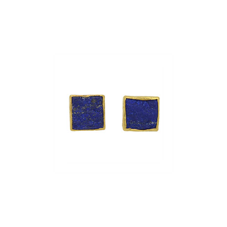 Lapis Lazuli square stud earrings