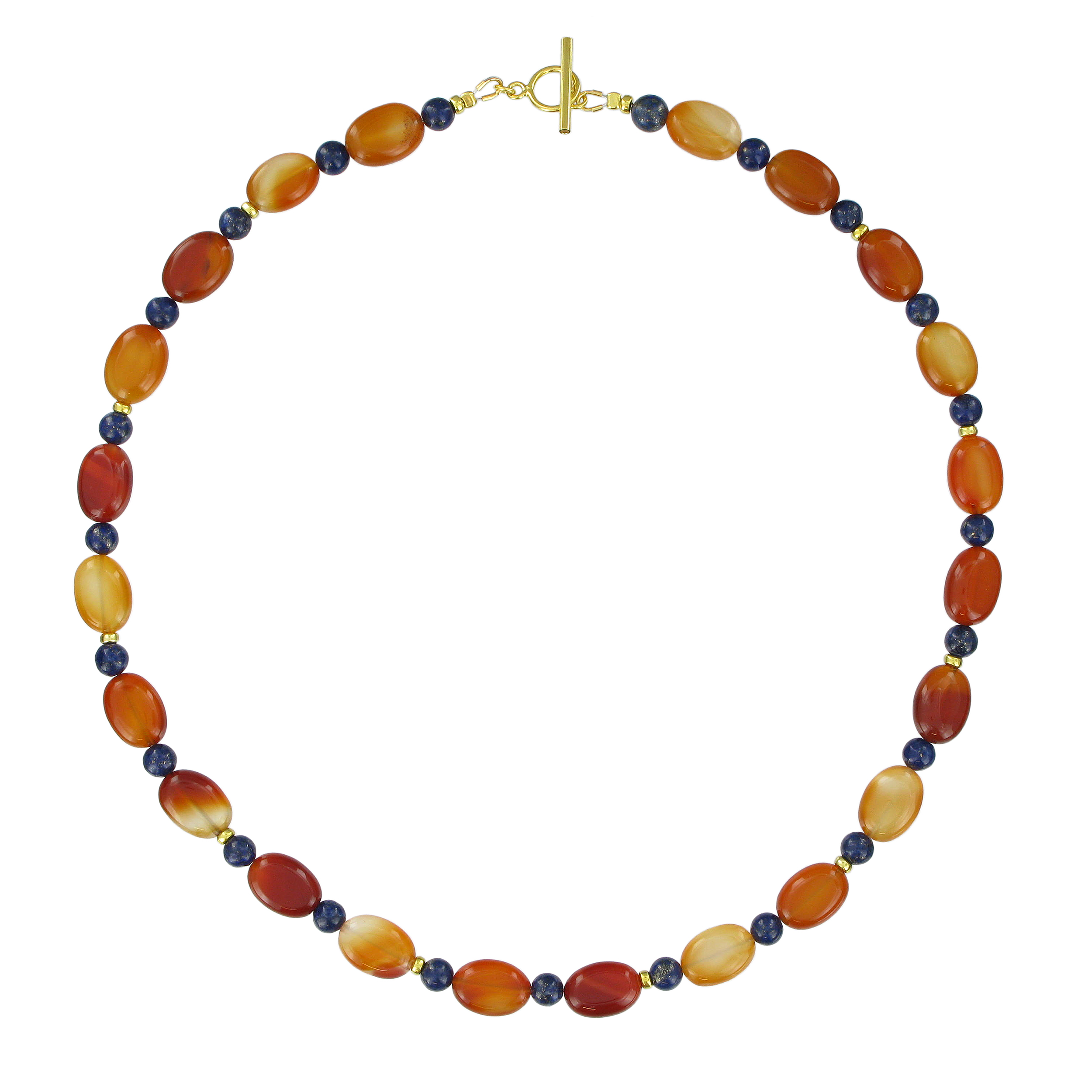 Lapis and carnelian stones necklace