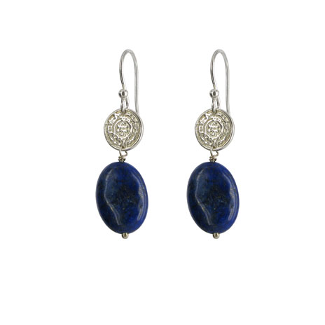 Lapis drop earrings