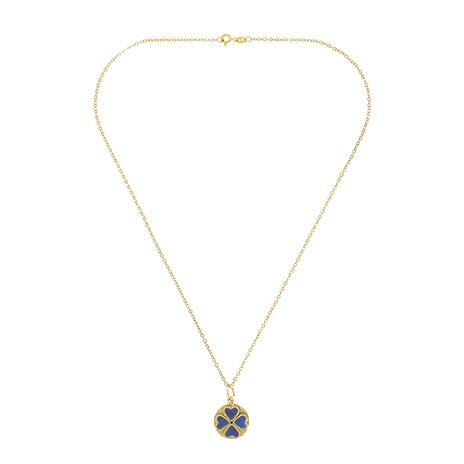 Lapis four leaf clover pendant (Nastran)