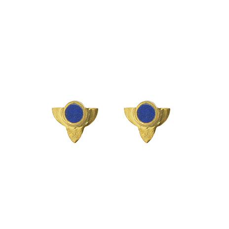 Lapis gold earrings (Anar)