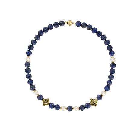 Lapis and pearl lotus necklace (British Museum exclusive)