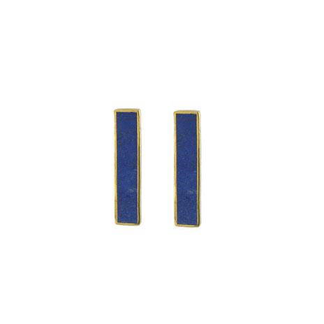 Lapis rectangle earrings (Daira)