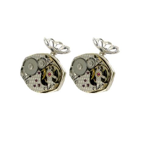 Clockwork cufflinks