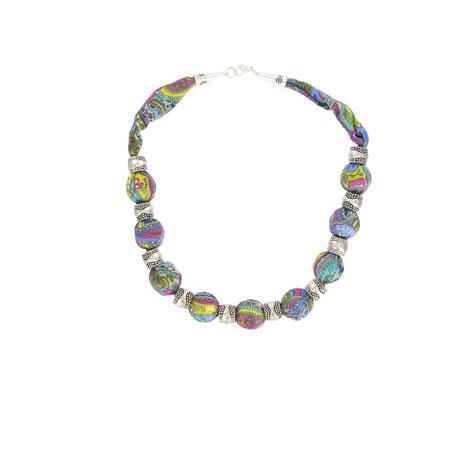 Liberty paisley necklace (purple)