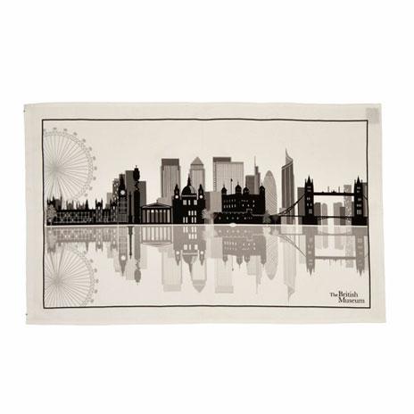 london icons tea towel