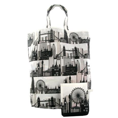 London Skyline packable bag