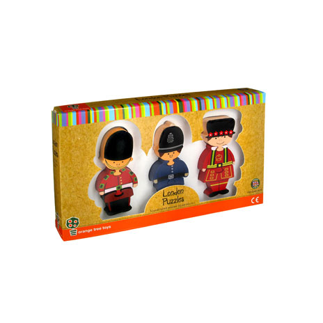 London puzzle figurines (pack of 3)