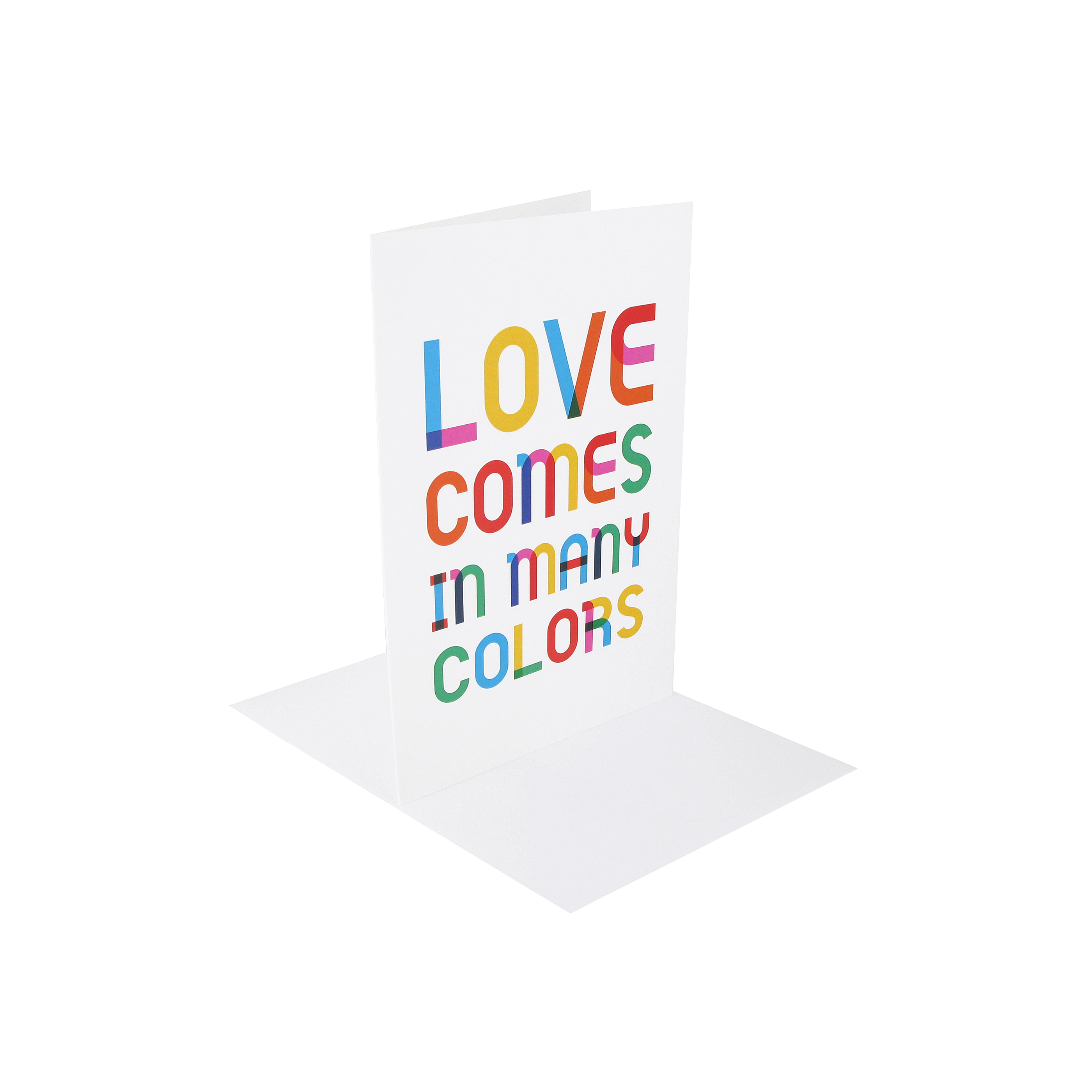 Love colours greeting card