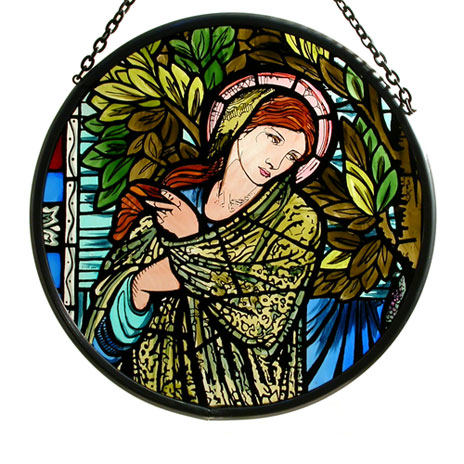 Madonna stained glass roundel (large)