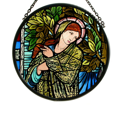 Madonna stained glass roundel (small)