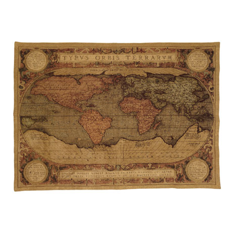 Mappemonde wall tapestry