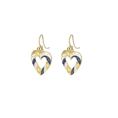Medieval heart earrings
