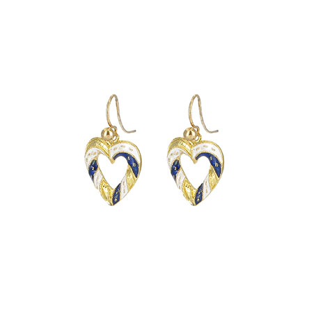 Medieval heart earrings