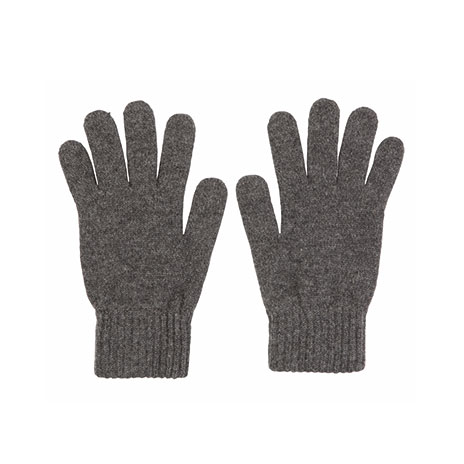 Mens cashmere gloves (mid-grey)