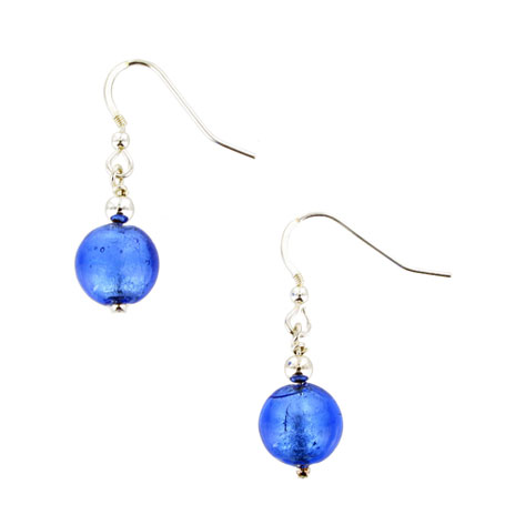 Blue Murano earrings