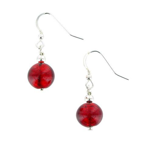 Red Murano earrings