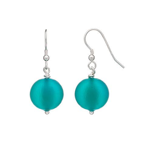 Murano bead earrings (emerald)
