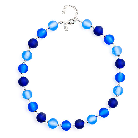 Murano beaded necklace (blue)
