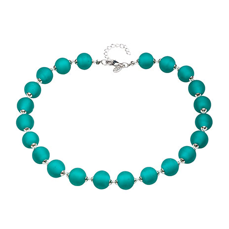 Murano beaded necklace (emerald)